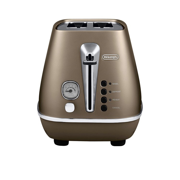Delonghi Distinta 2 Slice Toaster Bronze