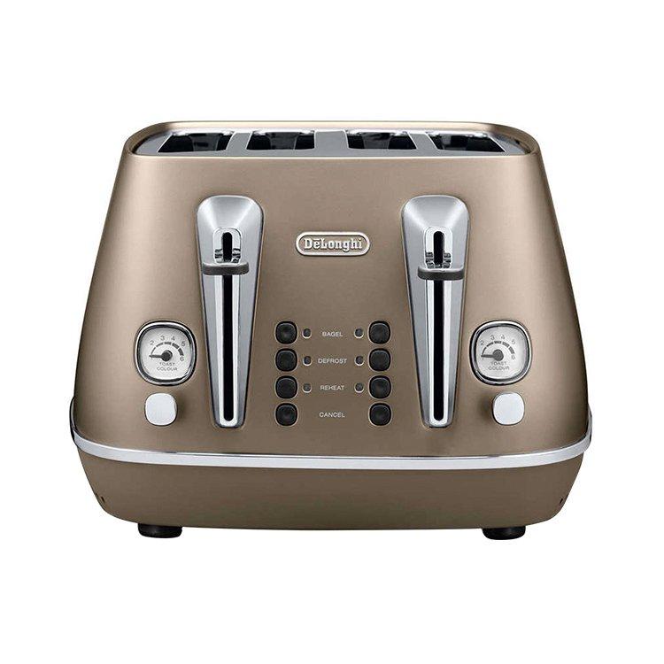 Delonghi Distinta 4 Slice Toaster Bronze