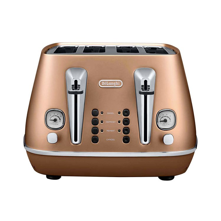 Delonghi Distinta 4 Slice Toaster Copper