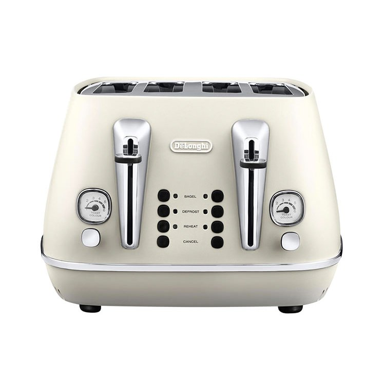 Delonghi Distinta 4 Slice Toaster White