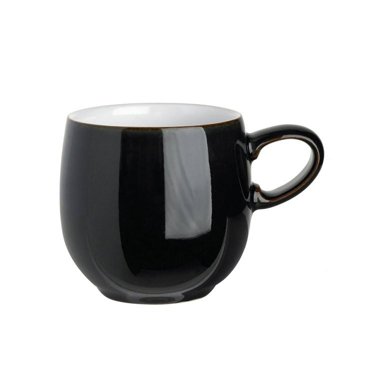 Denby Jet Curve Mug Small Black 300ml