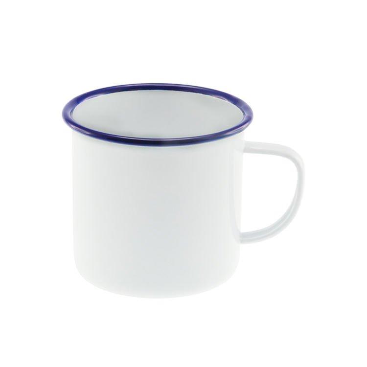 Falcon Enamel Mug White/Blue Rim 500ml