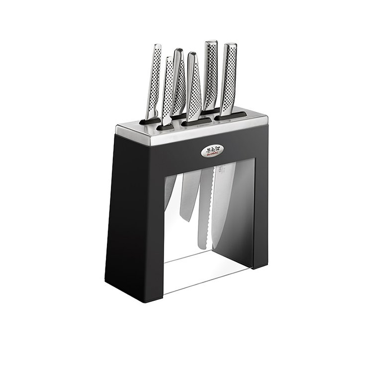 Global Kabuto 7pc Knife Block Set Black