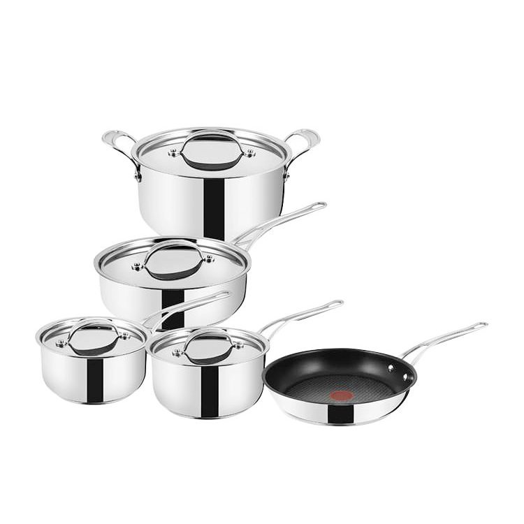 Jamie Oliver Stainless Steel Copper Professional Series 5pc Cookware Set