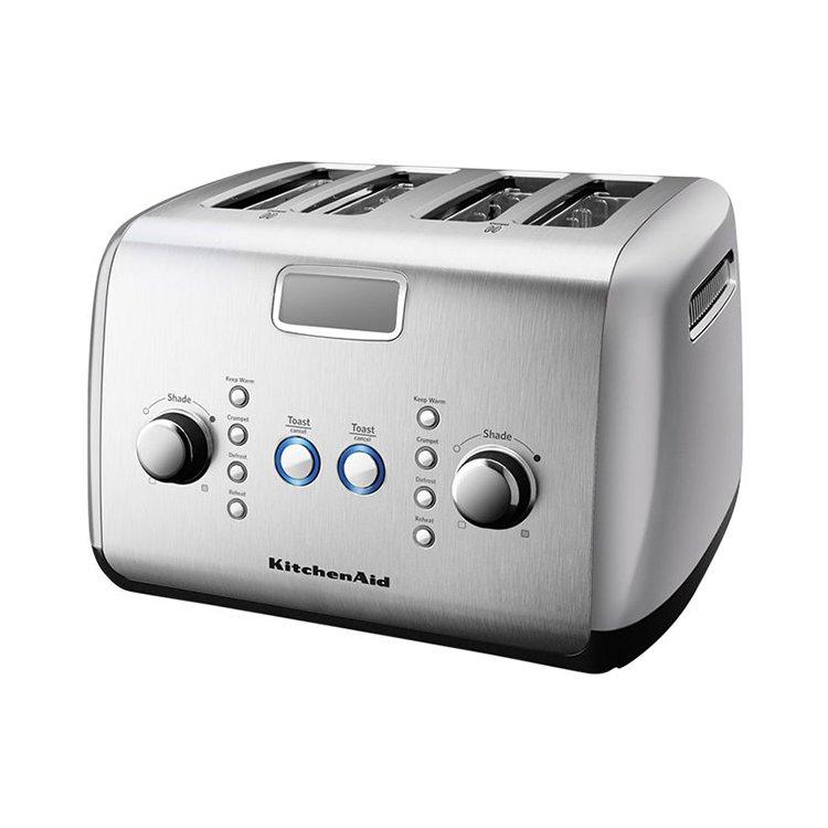 Kitchenaid toaster 4 slice artisan silver kitchen warehouse - Artisan toaster slice ...