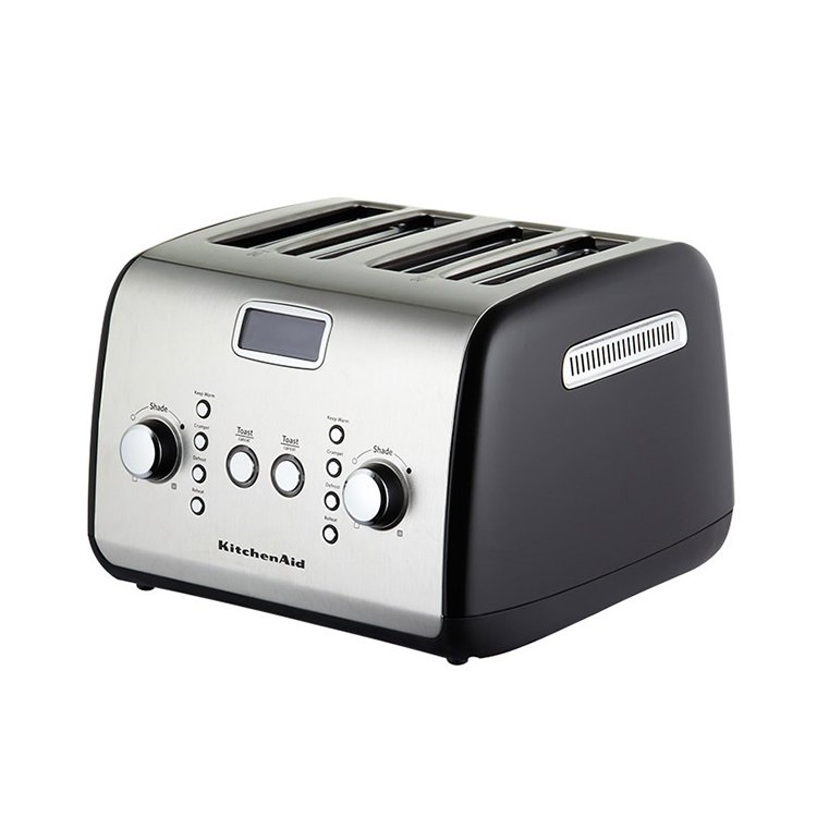 4 Slice Toaster ~ Kitchenaid artisan slice toaster onyx black on sale now