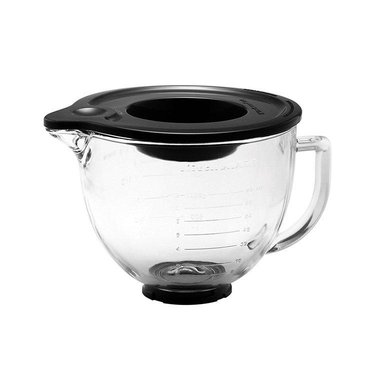 KitchenAid Glass Mixing Bowl w/ Silicone Lid 4.7L