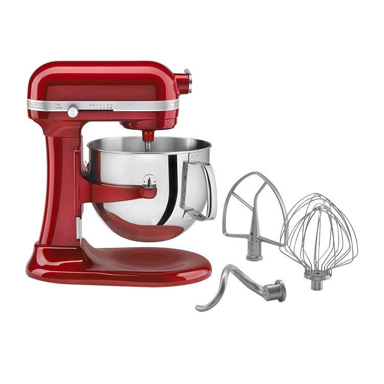KitchenAid Pro Line KSM7581 Bowl-Lift Stand Mixer Candy Apple Red