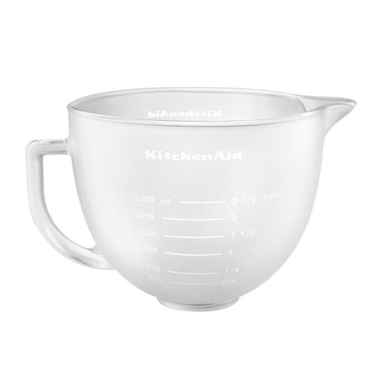 KitchenAid Frosted Glass Bowl for Tilt-Head Stand Mixer 4.7L