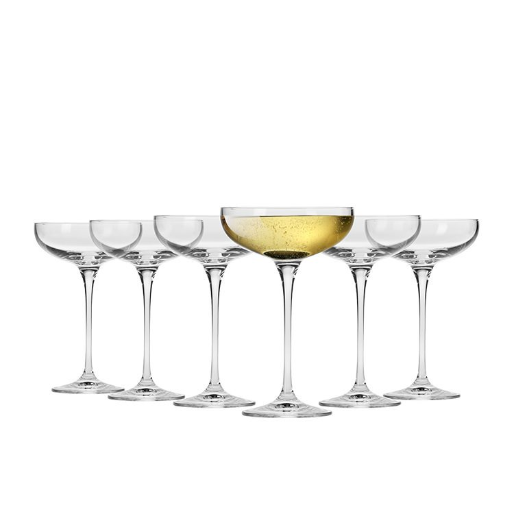 Krosno Vinoteca Champagne Cocktail Saucer 240ml Set of 6