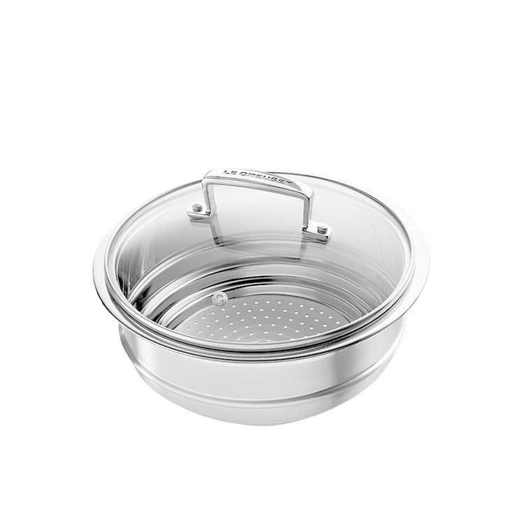 Le Creuset 3-Ply Stainless Steel Multi Steamer with Glass Lid
