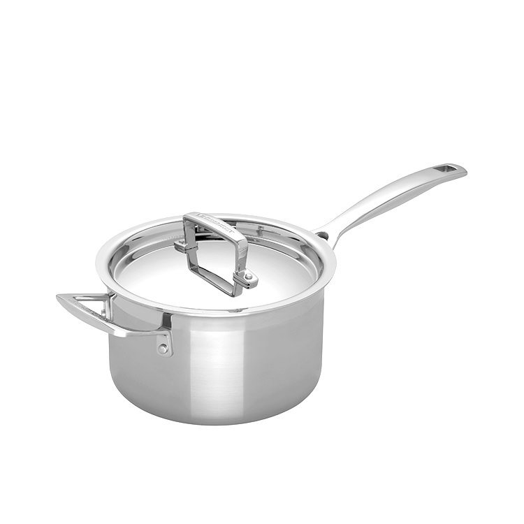 Le Creuset 3-Ply Stainless Steel Saucepan with Lid 18cm - 2.8L