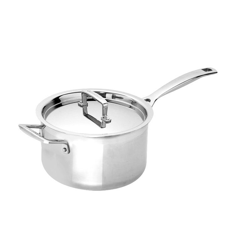 Le Creuset 3-Ply Stainless Steel Saucepan with Lid 20cm - 3.8L