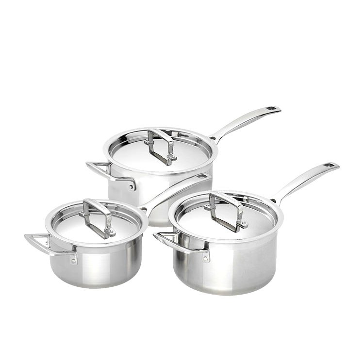 Le Creuset 3-Ply Stainless Steel 3pc Saucepan Set