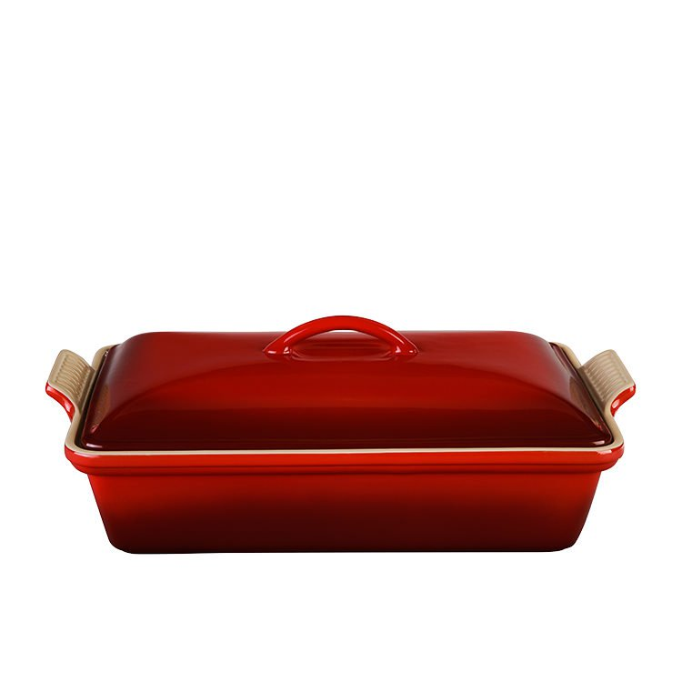 Le Creuset Heritage Covered Rectangular Dish 33cm Cerise