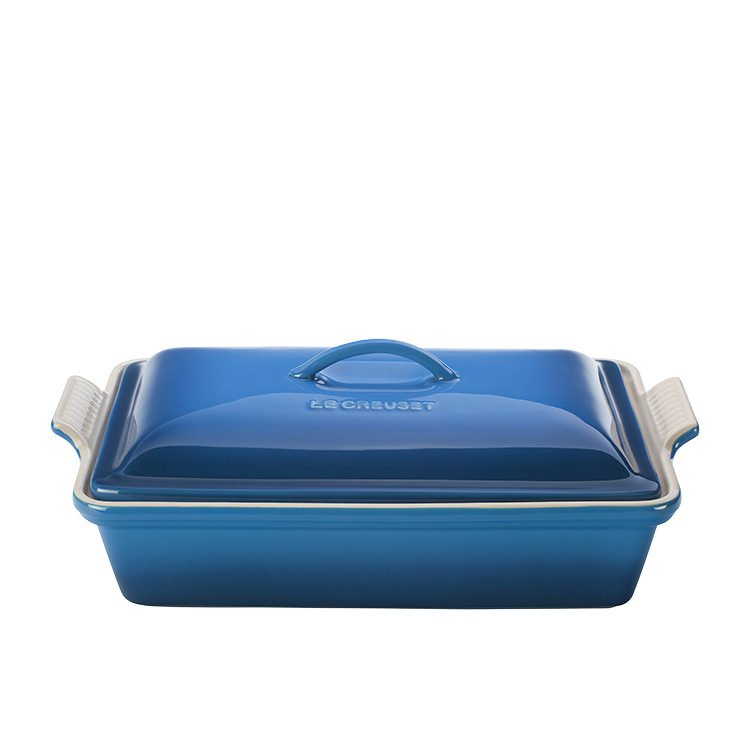 Le Creuset Stoneware Heritage Covered Rectangular Dish 33cm Marseille Blue