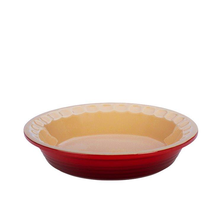 Le Creuset Stoneware Heritage Pie Dish 22cm Cerise