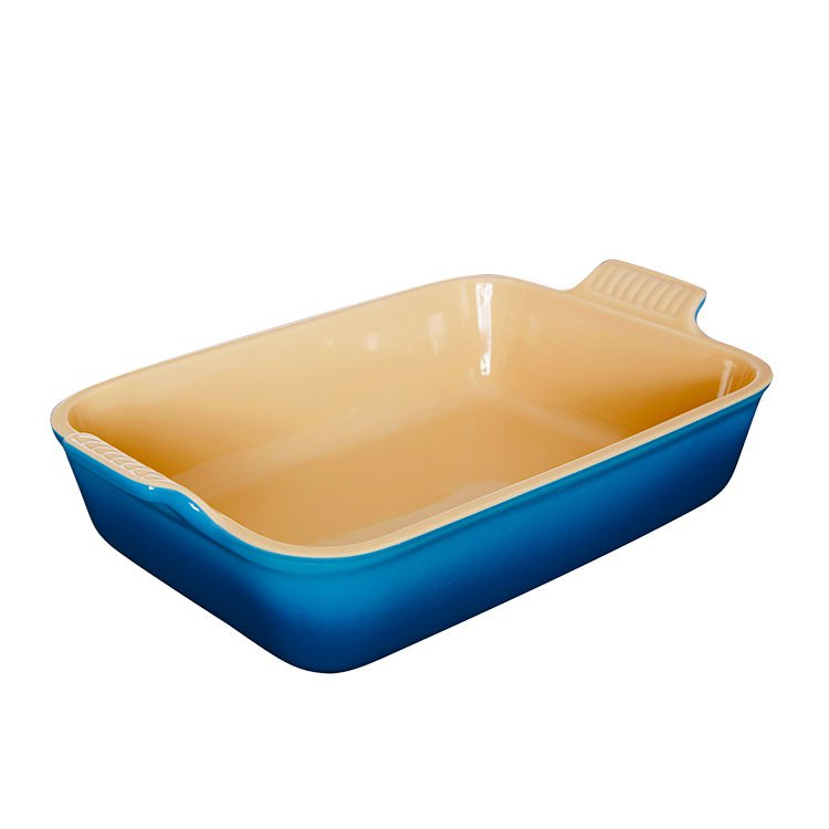 Le Creuset Stoneware Heritage Rectangular Dish 26cm - 2.3L Marseille Blue
