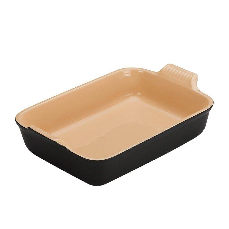 Le Creuset Stoneware Heritage Rectangular Dish 32cm - 3.8L Satin Black