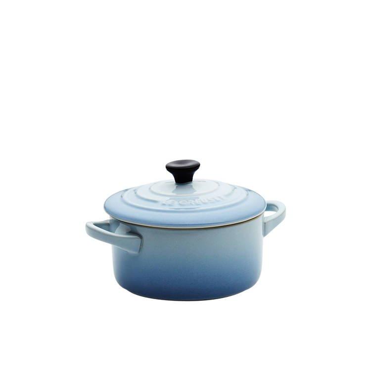 Le Creuset Stoneware Mini Round Casserole 9cm Coastal Blue