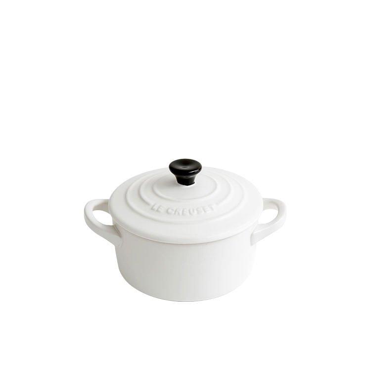 Le Creuset Stoneware Mini Round Casserole 9cm Cotton