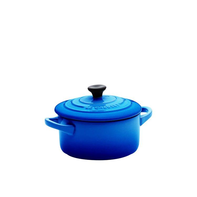 Le Creuset Stoneware Mini Round Casserole 9cm Marseille Blue