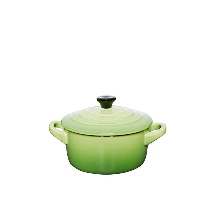 le creuset mini cocotte 10cm palm fast shipping. Black Bedroom Furniture Sets. Home Design Ideas