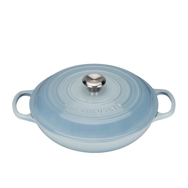 Le Creuset Signature Cast Iron Shallow Casserole 30cm - 3.2L Coastal Blue