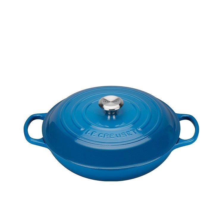 Le Creuset Signature Cast Iron Shallow Casserole 30cm - 3.2L Marseille Blue