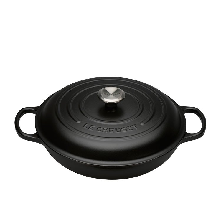 Le Creuset Signature Cast Iron Shallow Casserole 30cm - 3.2L Satin Black