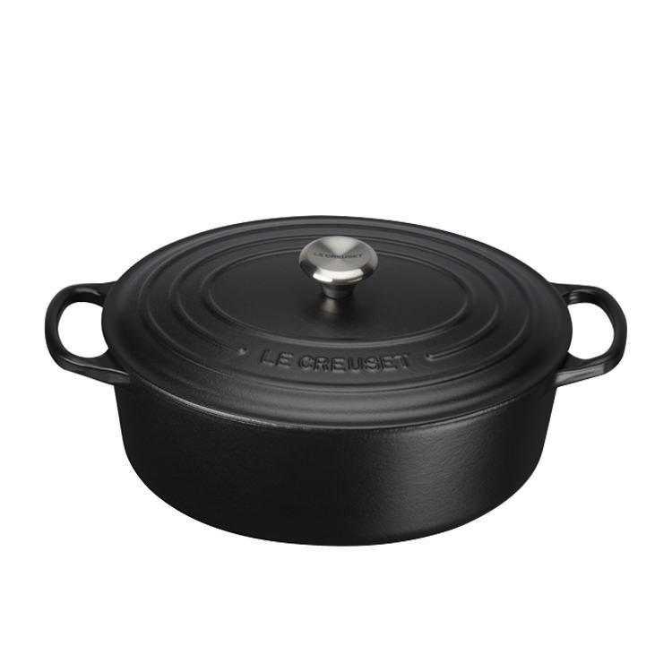 Le Creuset Signature Cast Iron Oval Casserole 27cm - 4.1L Satin Black