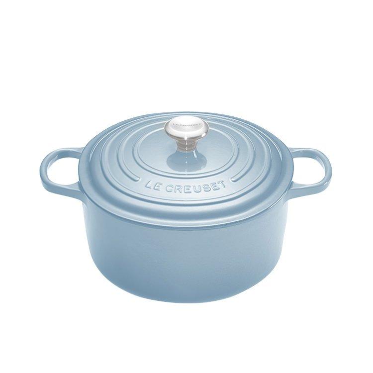 Le Creuset Signature Round French Oven 20cm - 2.4L Coastal Blue