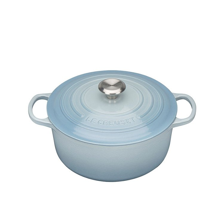 Le Creuset Signature Round French Oven 20cm - 2.4L Coastal Blue