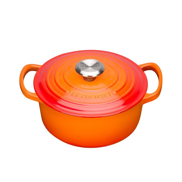 Le Creuset Signature Round French Oven 20cm - 2.4L Volcanic