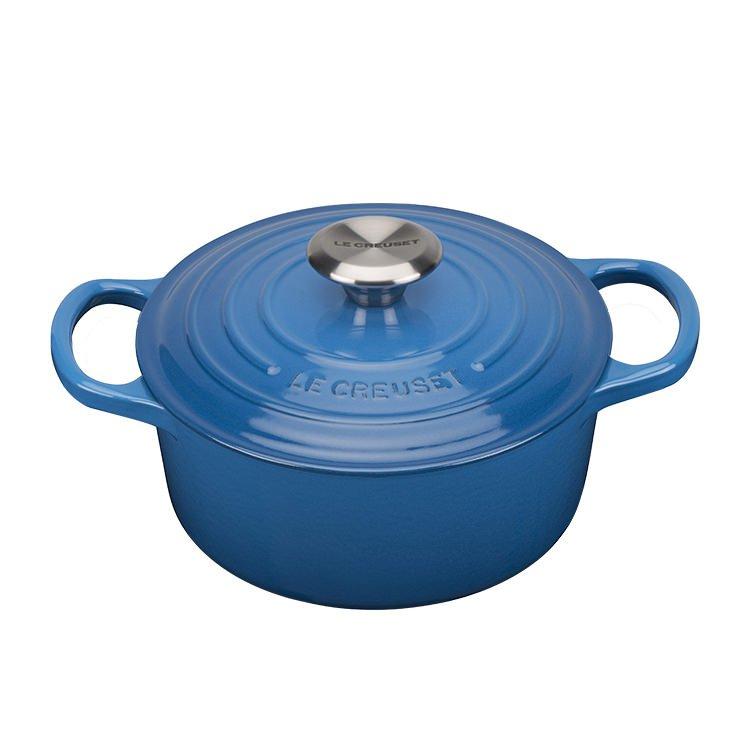 Le Creuset Signature Round French Oven 26cm - 5.3L Marseille Blue