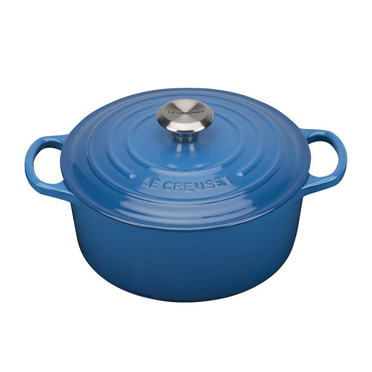 Le Creuset Signature Round French Oven 28cm - 6.7L  Marseille Blue
