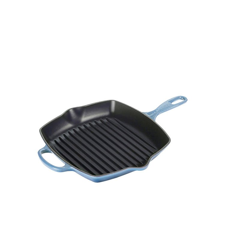 Le Creuset Signature Cast Iron Square Grillit 26cm Coastal Blue