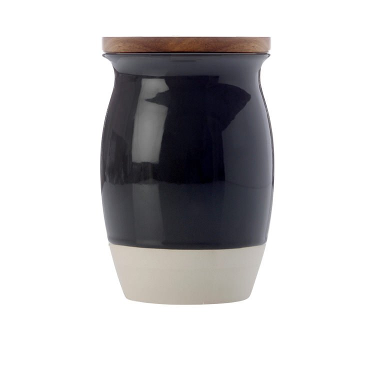 maxwell u0026 williams artisan dipped canister 1l charcoal