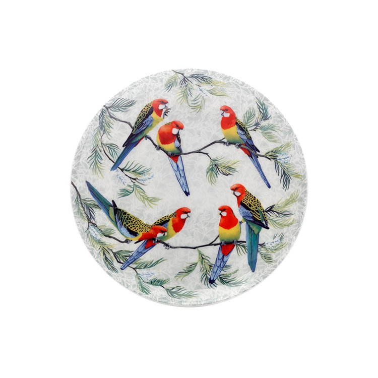 Maxwell & Williams Cashmere Birds of Australia Crimson Rosellas Treetop Plate 20cm