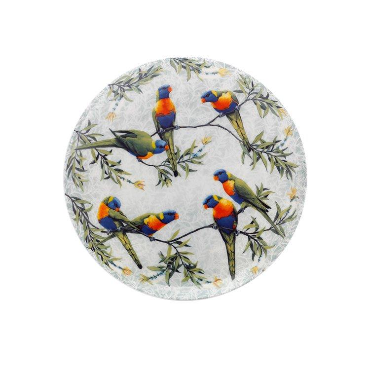 Maxwell & Williams Cashmere Birds of Australia Lorikeets Treetop Plate 20cm