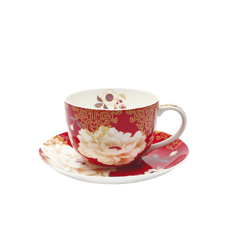 Maxwell & Williams Kimono Cup & Saucer 250ml Red
