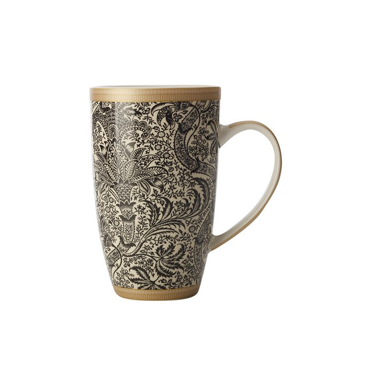 Maxwell & Williams William Morris Black Seaweed Coupe Mug 420ml