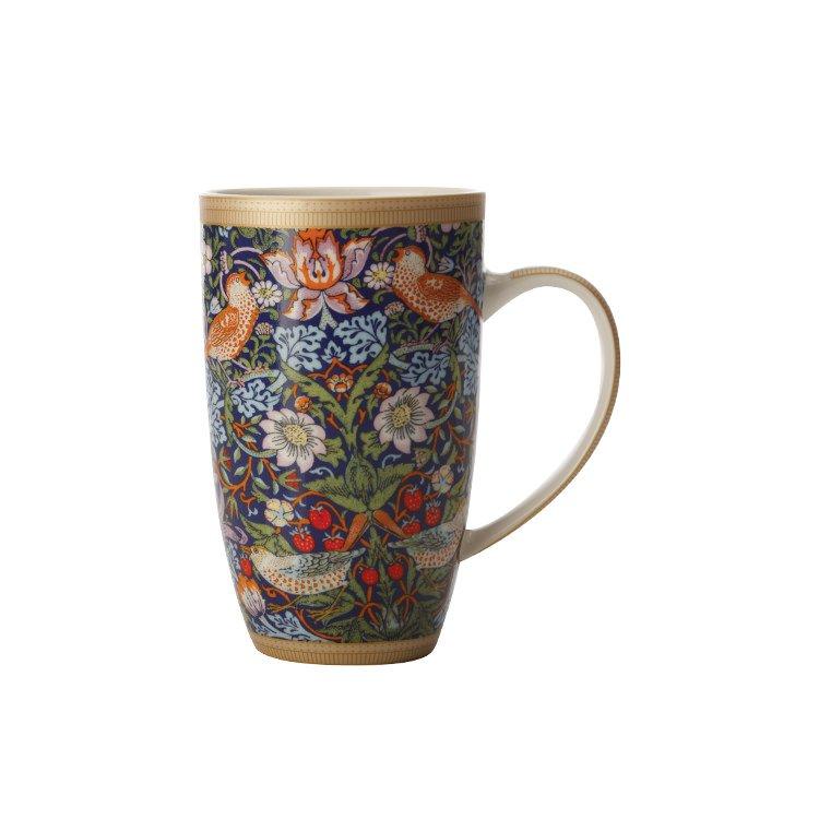 Maxwell & Williams William Morris Strawberry Thief Coupe Mug 420ml Blue