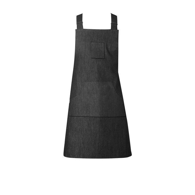 Ogilvies Designs Black Denim Crossover Apron