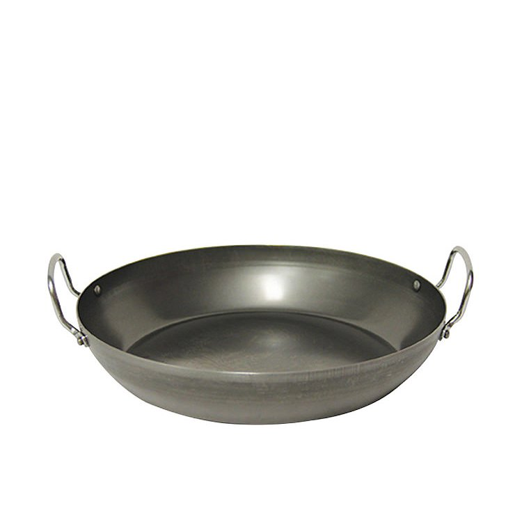 Pyrolux Industry Blue Steel Paella Pan 40cm