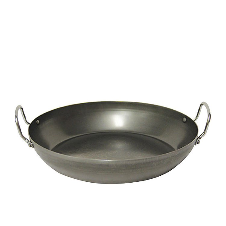 Pyrolux Industry Blue Steel Paella Pan 45cm