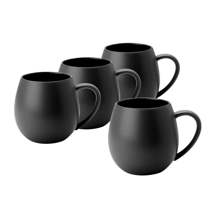 Robert Gordon Hug Me Mug Set of 4 Black