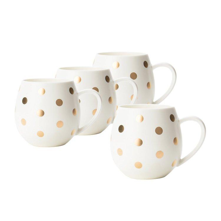 Robert Gordon Hug Me Mug Set of 4 White Gold