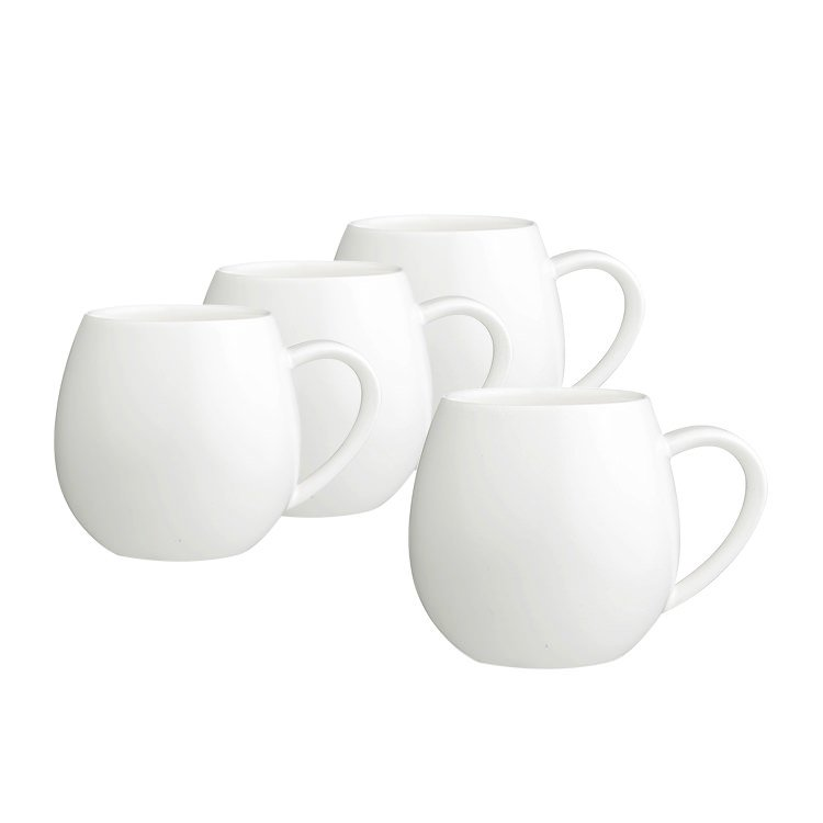 Robert Gordon 4pc Hug Me Mug Set 400ml White