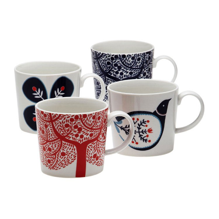 Royal Doulton Fable Mugs Set of 4 Accent